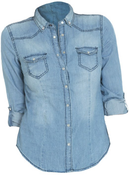 Wet Seal Denim Button Up